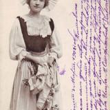 Carti Postale Romania pana la 1904, Circulata, Fotografie - Romania? carte postala UPU circulata 1902: Costum popular german?