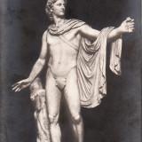 Carte postala veche Muzeu Vatican Statuia Apollo gm 108 redus