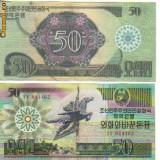Bnk bn coreea de nord 50 won 1988, capitalist visitor, vf - bancnota asia