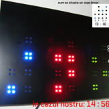 Ceas led - Ceas binar de perete cu LED-uri - unic 2012
