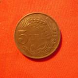5 LEI 1942, Mihai I, zinc, cal.F.Buna, d=2, 3cm. - Moneda Romania