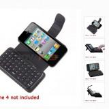 Tastatura QWERTY iphone4 cu husa piele Bluetooth