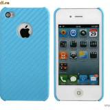HUSA iPHONE 4 4G - BLUE CARBON - CARCASA iPHONE 4G 4G