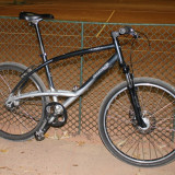 Bicicleta de oras, 18 inch, 26 inch, Numar viteze: 7, Aluminiu, Negru-Gri - Bicicleta city Decathlon Triban Road 5