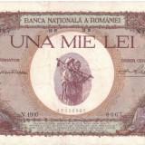 * Bancnota 1000 lei 1939 - cu overprint