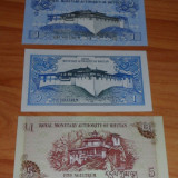 Bancnota Straine - Lot 2 bancnote Bhutan 1 ngultrum UNC necirculate