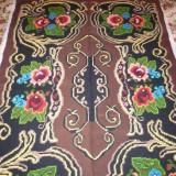 Cuvertura traditionala 100% lana lucrata manual - tesatura textila