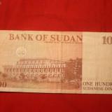 Bancnota Straine - Bancnota 100 Dinari SUDAN, cal.medie-buna