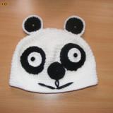 Caciula ursuletul panda crosetata pt copii mari/ adulti - Caciula Copii