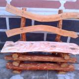 Masa si banci de lemn rustice