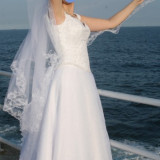 Rochie de mireasa printesa - Rochie mireasa Nataly Constanta, marimea 42-44, corset si fusta