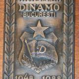 PLACHETA ANIVERSARA BRONZ CLUBUL SPORTIV DINAMO BUCURESTI 1948-1988. EMBLEMA