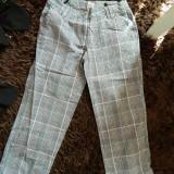 Pantaloni dama, Trei-sferturi, Bumbac - Pantaloni de dama, marimea 36, treisfert, carouri, COMANDA MINIMA 30 LEI!