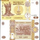 REP. MOLDOVA- 1 LEU 2010- UNC!!