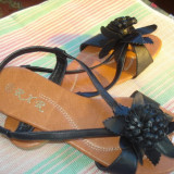 Sandale dama, Marime: 37.5, Fuchsia - SANDALE NEGRE 38, 40