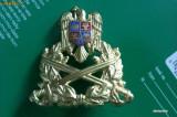 Emblema coifura militara metalica format mare