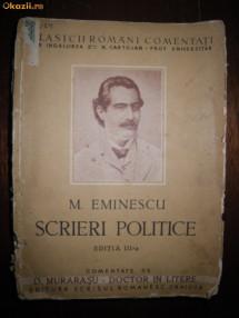 M Eminescu, Scrieri Politice, comentate de D Murarasu foto