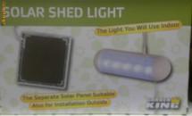 Lampa solara de perete foto