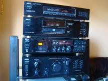 Sistem combina  audio Akai  AM - 37 ,  GX - 32 , CD - 37 , AT - 26 foto