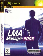 Jocuri Xbox Codemasters, Sporturi, 3+, Single player - JOC XBOX clasic LMA MANAGER 2005 ORIGINAL PAL / STOC REAL / by DARK WADDER