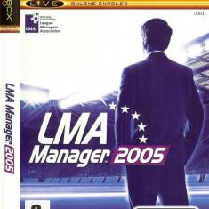 JOC XBOX clasic LMA MANAGER 2005 ORIGINAL PAL / STOC REAL / by DARK WADDER - Jocuri Xbox Codemasters, Sporturi, 3+, Single player
