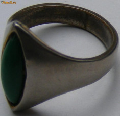 Inel argint - Inel vechi din argint cu piatra (4) - de colectie