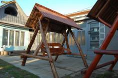 Leagan/Balansoar - Leagan din lemn cu aspect rustic