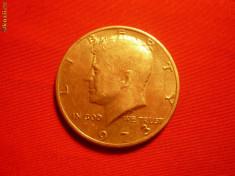 Monede Straine - 1/2 Dolar 1973 SUA, cal.F.Buna, metal alb, d=3cm.