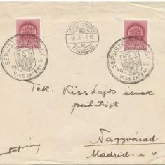 RFL 1940 Transilvania plic iredentist maghiar stampila Sf. Gheorghe