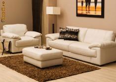 Mobila camera de zi - Vand canapea din piele