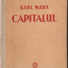 Carte hobby - (C763/4) CAPITALUL DE KARL MARX, EDITURA PMR, 1951, 2 VOLUME ( VOL. I SI VOL. AL II-LEA )