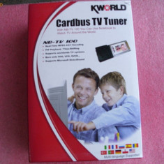 TV-Tuner PC Kingston - Cardbus TV TUNER KWORLD NB-TV100
