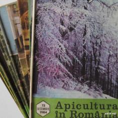 APICULTURA IN ROMANIA, colectie completa pe anul 1984 (stuparit, albinelor, stuparului, albinarit) 8 lei/revista