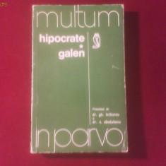 Hipocrate Galen prezentati de G.Bratescu si C. Sandulescu - Carte Dietoterapie
