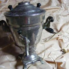 SAMOVAR, Foarte vechi-inox-URSS-Rusesc, TRANSPORT GRATUIT, Poza reala - Metal/Fonta