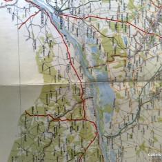 Harta Turing Clubul Roman - interbelica - nr 47 - Bucuresti - Giurgiu