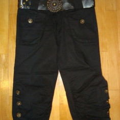 Pantaloni Dama trei-sferturi, Fuchsia, Poliester