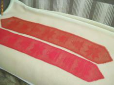 Tesatura/textila - Dantele centru masa din ata rosie de bumbac