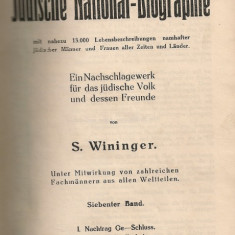 S. Wininger - Grosse Judische National-Biographie (Marea biografie-nationala evreeasca) - vol. VII - 1936