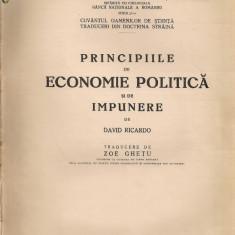 David Ricardo - Principii de economie politica si de impunere - 1939 - Carte Economie Politica