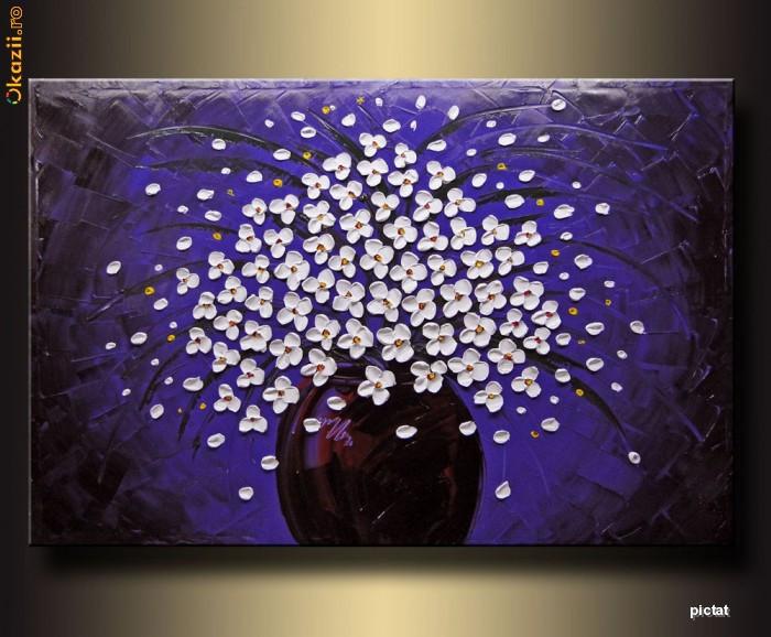 LILIAC ALB - Tehnica: Pictura in Cutit foto mare