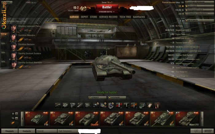 Cont  World of Tanks foto mare