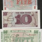 Bnk bn anglia set 3 bancnote unc