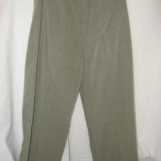 Pantaloni vara dama - Pantaloni dama, Lungi, Khaki, Poliester