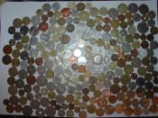Colectie numismatica, monede, bancnote, romanesti, straine foto