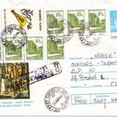 Timbre Romania - D-238 Intreg Postal Ilarie Voronca-Victor Brauner Muzeu Galati