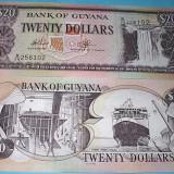 Bancnota Straine - GUYANA 1996 - 20 DOLARI - UNC