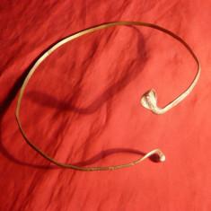 Coronita in forma de Cobra - metal argintat -d= 18 cm - veche