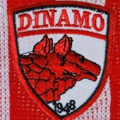Emblema DINAMO adeziva - se lipeste prin calcare / emblema brodata cu DINAMO / sigla brodata DINAMO