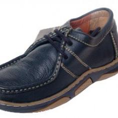 Pantofi mocasini piele bleumarin mar 39 - Mocasini Copii